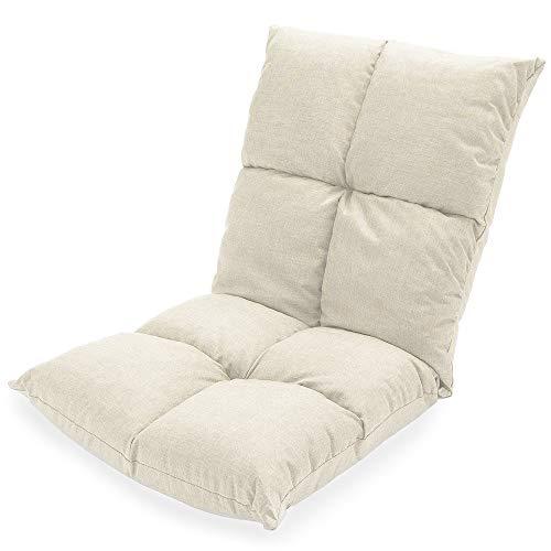 Z.Y.L 14段調節リネン生地座椅子 14センチメートルぐらい厚さ 通気性 座り心地良い カーキ