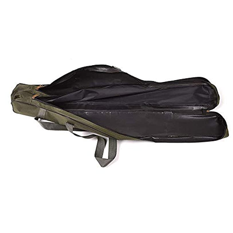 矢印上昇流用する釣竿ケース ロッドケース折畳 大容量 竿袋 釣り竿入れ 収納 フィッシングバッグ グリーン
