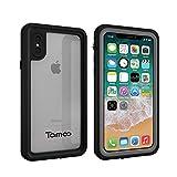 Tamoo iPhone X ケース iPhoneX 防水ケース IP68規格 完全防水 耐衝撃 防塵 米軍MIL規格取得 (ブラック)