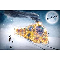 Diyダイヤモンド絵画風景電車ホームデコレーションダイヤモンド刺繍フルモザイク装飾クリスマスギフト,70x90cm