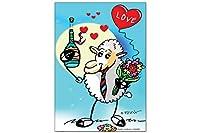 冷蔵庫用マグネット Fridge Magnet Fun FeliX Love sheep Bouquet