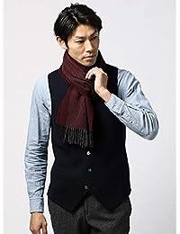 (ザ・スーツカンパニー) blazer's bank.com/ヘリンボーン柄ウールマフラー/Fabric by MOON/ボルドー