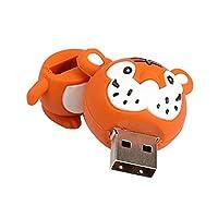 F Fityle 虎柄 高速 USB 2.0フラッシュドライブ ペンドライブ メモリスティック ハロウィン 動物 全3容量 - 32GB