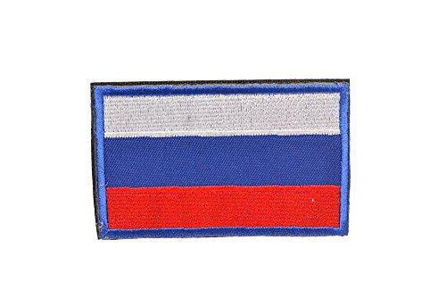 ロシア 国旗 ミリタリー ワッペン パッチ サバゲー ベルクロ付き 赤