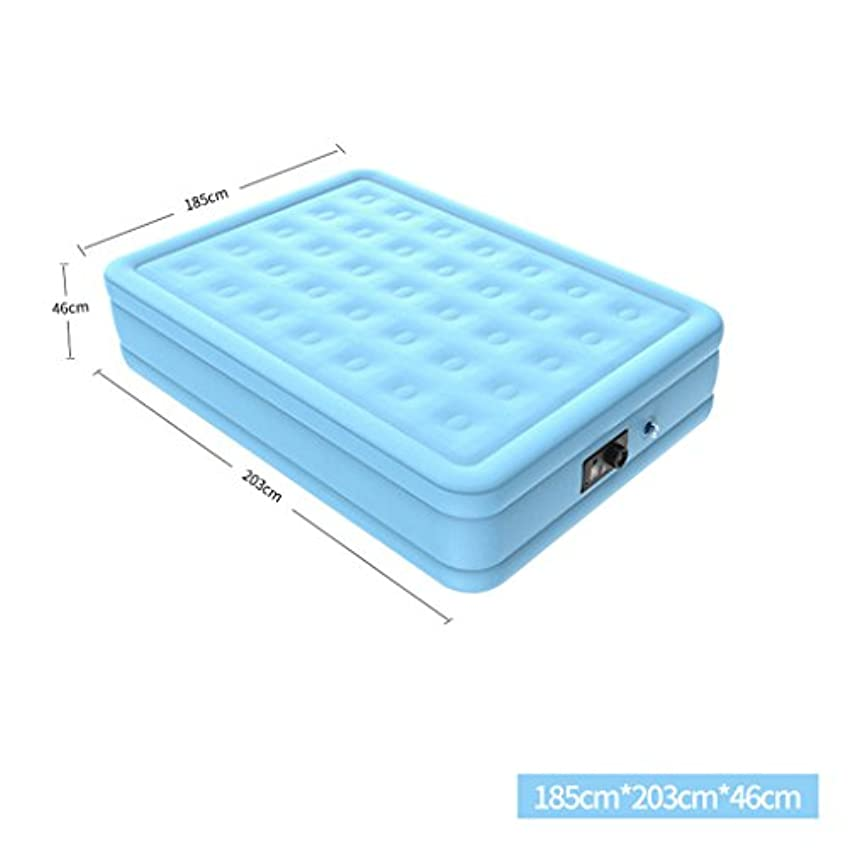 アーティキュレーション迅速減少ベッド、家庭用屋外フロッキングインフレータブルマットレスエアクッション (サイズ さいず : 185*203*46cm)