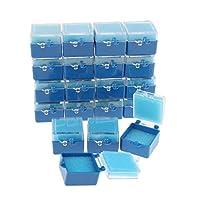 Perfeclan 約20個 マウスガードケース 義歯収納容器 歯収納ケース リテーナーボックス 2タイプ選べ - 青