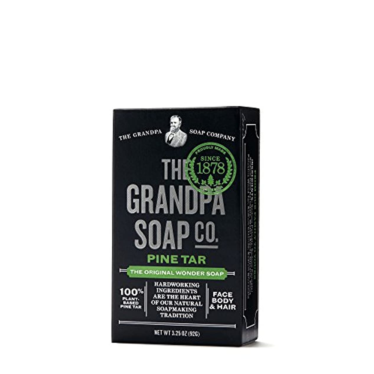 理想的固体戦争Pine Tar Soap - 3.25 oz Bar (6 Pack) by Grandpa's