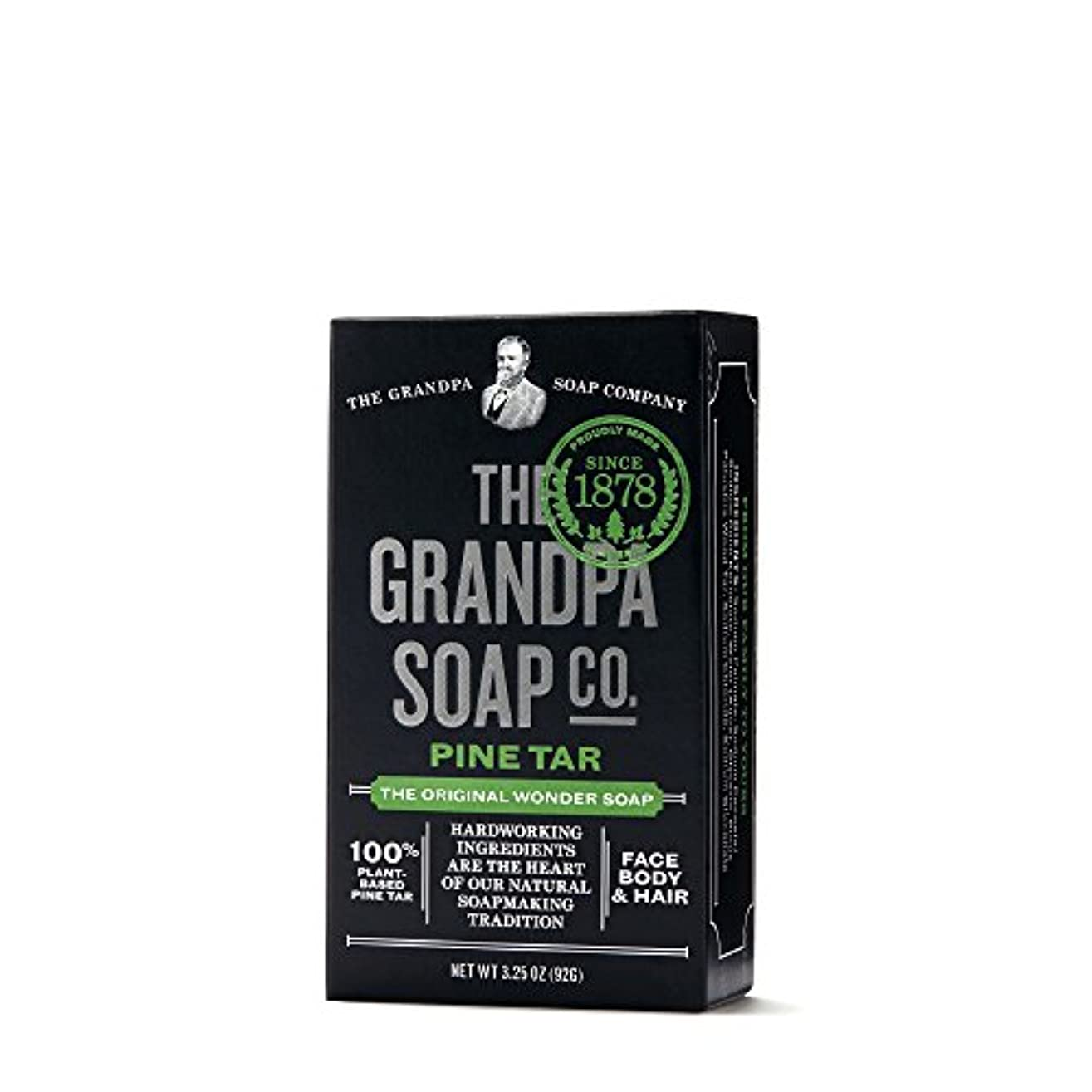 流行こだわり知覚できるPine Tar Soap - 3.25 oz Bar (6 Pack) by Grandpa's