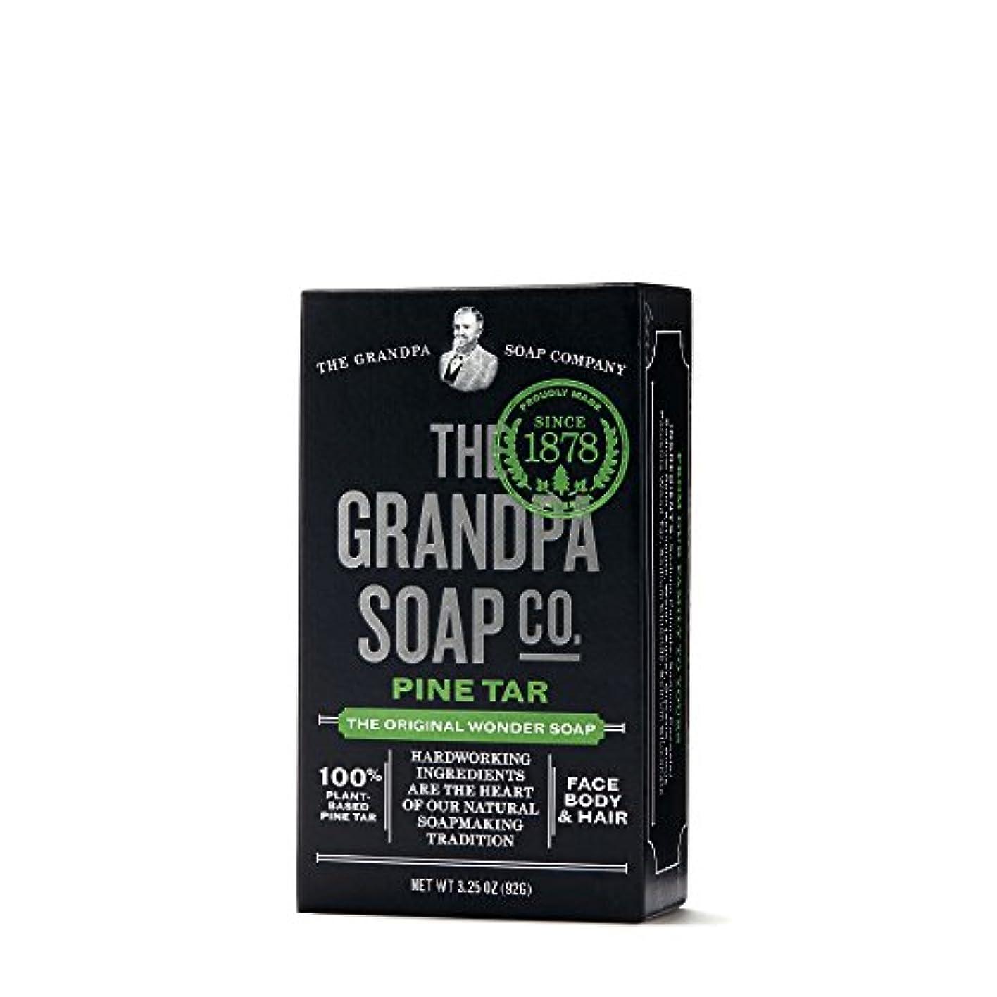 爆弾めまい同僚Pine Tar Soap - 3.25 oz Bar (6 Pack) by Grandpa's
