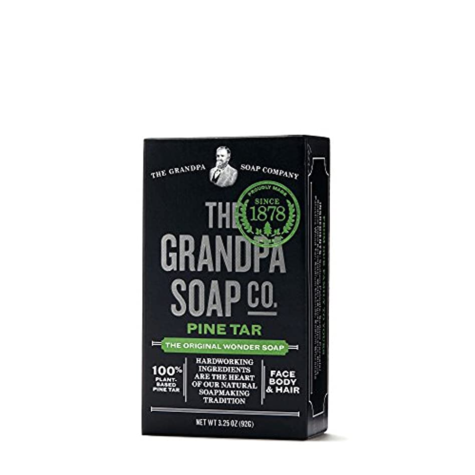 簡単な知恵テロPine Tar Soap - 3.25 oz Bar (6 Pack) by Grandpa's