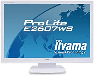 iiyama 25.5インチワイド液晶ディスプレイ アスペクト比固定拡大機能搭載 ホワイト PLE2607WS-W1