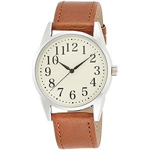 [フィールドワーク]Fieldwork 腕時計 スタンダード アナログ表示 ベージュ×ブラウン WWP002-1 メンズ