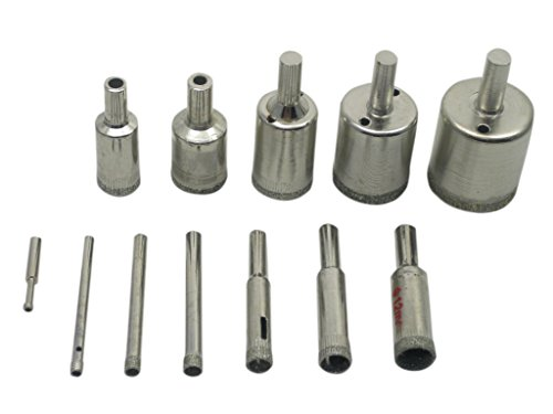 (Aideaz) 超 寿命 ダイヤモンド コア ドリル コア ビット セット 4mm から 30mm (12本)