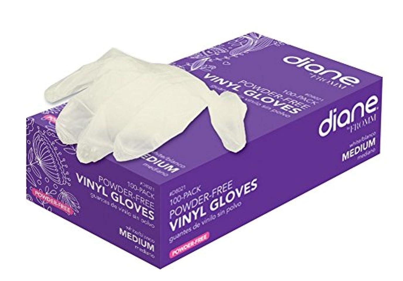 ほぼ更新するエールDiane ビニールパウダーフリー手袋、100カウント 中