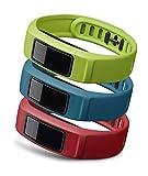 GARMIN(ガーミン) 替えバンド vivofit2用 リストバンド 3色セット アクティブ (グリーン/ブルー/レッド) Lサイズ