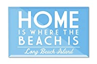 Long Beach Island、New Jersey – ホームis where the beach is – 単に言った 12 x 8 Acrylic Photo Block Decor LANT-3P-AC-PB-87678-8x12