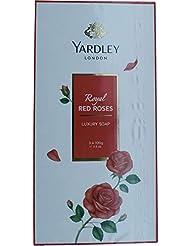 Yardley 1ロンドン赤バラ、3 x net wt。100 g e 3.5oz