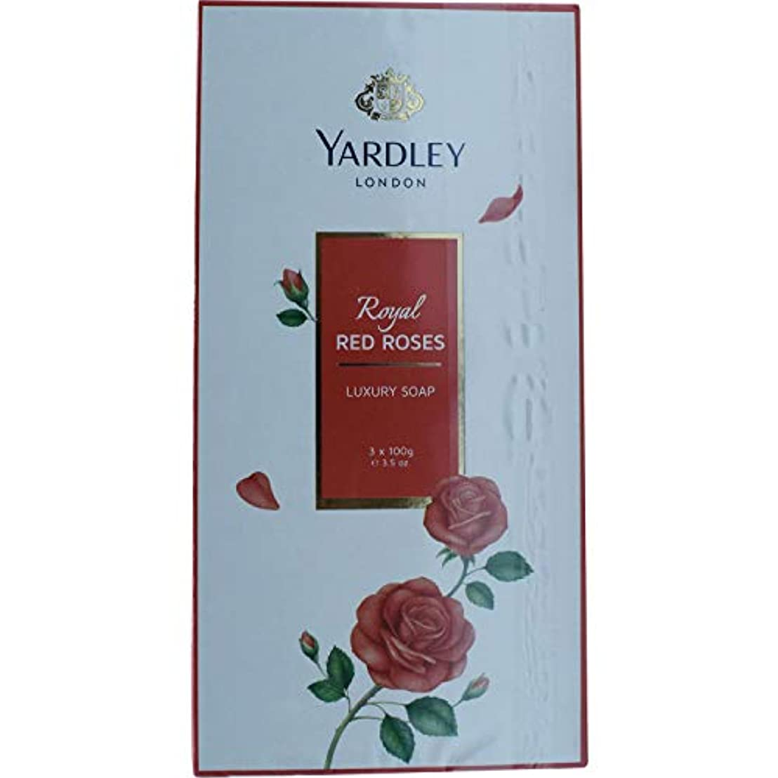 悪用背が高い整理するYardley 1ロンドン赤バラ、3 x net wt。100 g e 3.5oz