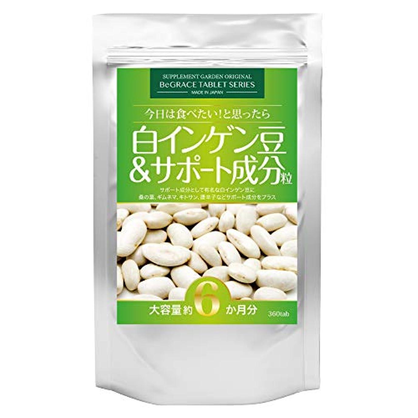 大理石小切手証言白インゲン豆&サポート成分粒 大容量約6ヶ月分/360粒(白インゲン豆?桑の葉?ギムネマ?キトサン?唐辛子)