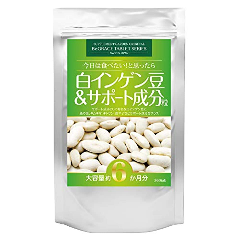 スクラップブックスポークスマンモック白インゲン豆&サポート成分粒 大容量約6ヶ月分/360粒(白インゲン豆?桑の葉?ギムネマ?キトサン?唐辛子)
