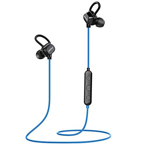 Mpow Enchanter bluetooth4.1 スポーツイヤホン ワイヤレス ヘッドセット 超軽量13g IPX4防水 IP4X防塵 CVC6.0ノイズ低減の仕組み iPhone&Android スマートフォンに対応 MP-BH053AD