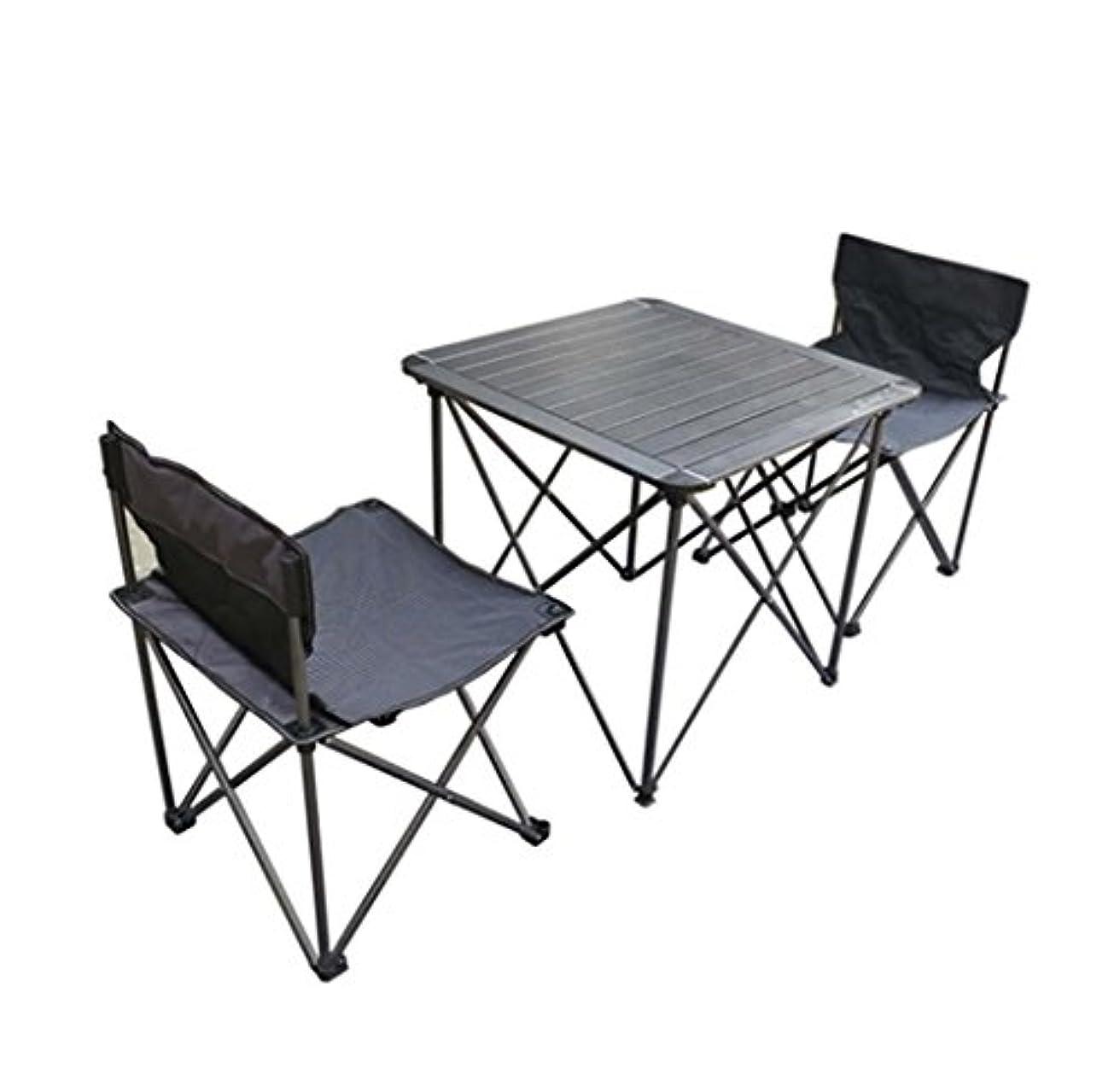 粘着性ペニー協定dsfgheアルミテーブルと椅子スーツビーチアウトドアキャンプポータブル折りたたみテーブル