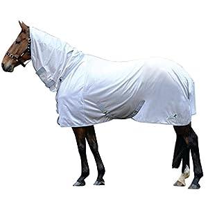 (マスタ) Masta 馬用 TEX ベーシック フライラグ 虫除け 馬着 乗馬 ホースライディング (7フィート) (ホワイト)