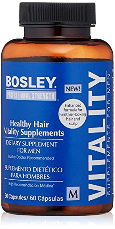 偏見親密な巨人Bosley Healthy Hair Vitality Supplement for Men, 60 Count by Bosley