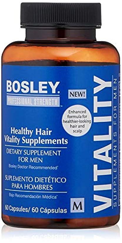 テニス余分な壁Bosley Healthy Hair Vitality Supplement for Men, 60 Count by Bosley