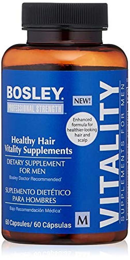ドラマ出席バッテリーBosley Healthy Hair Vitality Supplement for Men, 60 Count by Bosley