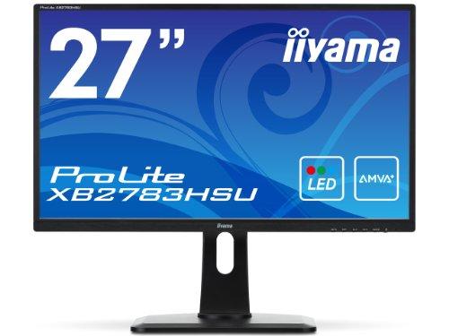 iiyama Full HD(1920x1080)モード対応 AMVA+パネル搭載 WLEDバックライト27型ワイド液晶ディスプレイ XB2783HSU-B1
