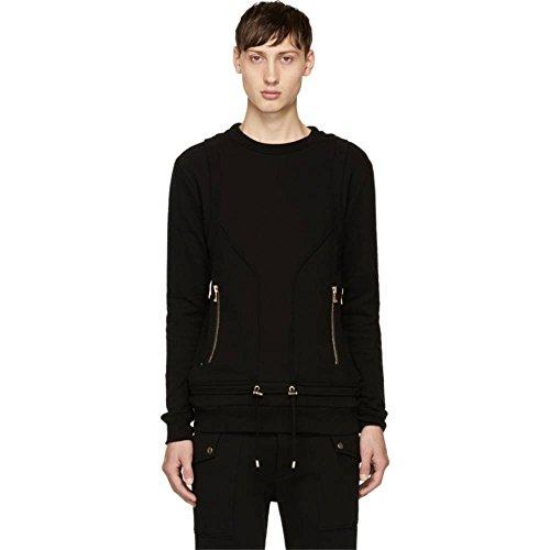 (バルマン) Balmain メンズ トップス スウェット・トレーナー Black Drawstring Sweatshirt 並行輸入品