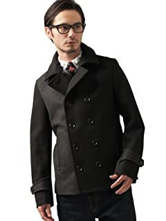 Melton Bi Color Peacoat 3225-139-1633: Grey