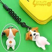 おなかポッコリ お犬様 携帯ストラップ(ジャックラッセルテリア)MA-3301