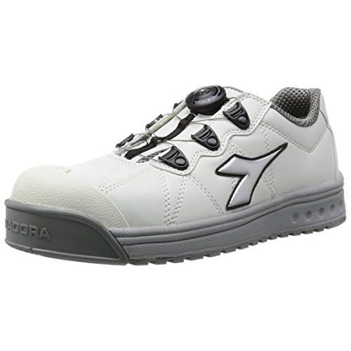[ディアドラユーティリティ] DIADORA UTILITY 作業靴 スニーカー フィンチ FC181 ホワイト&シルバー&ホワイト/26.5