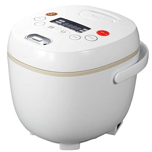 多機能炊飯器 4合炊き マイコン炊飯ジャー ホワイト 9機能...