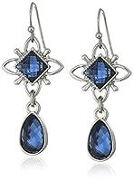 1928 Jewelry シルバートーンブルードロップピアス