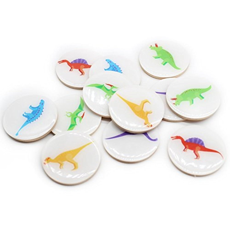 alasida木製メモリマッチングゲーム恐竜パターン一致Stacks教育玩具早期開発向上しながら学習パズルゲーム、幼児、幼稚園学習、教育玩具、楽しいプレイVisual