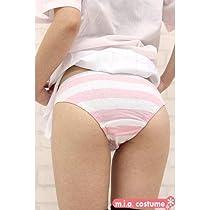 【コスプレ衣装】 ボーダーショーツ(しまパン) 【色:ピンク×白】(しま幅3cm)