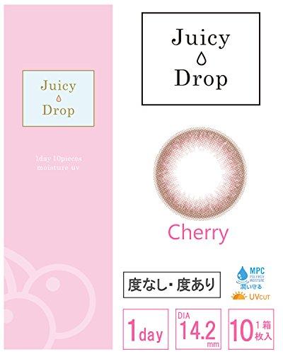 ジューシードロップ ワンデー カラコン Juicy Drop 1day カラーコンタクト1箱10枚入り(チェリー、-2.00)