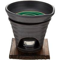 香炉 黒釉 茶香炉(緑) [R11.8xH11.5cm] HANDMADE プレゼント ギフト 和食器 かわいい インテリア