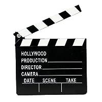PETSOLA クラッパーアクションボード 映画ビデオファンシードレス 木質カチンコ 映画撮影用 映画の道具 木製 映画監督