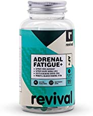 Revival Adrenal Fatigue+ | 120 Capsules | Natural cortisol manager with Adaptogenic Herbs, 120 count