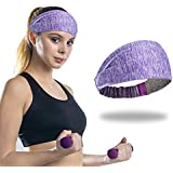 Headband for Women, High Stretch & Lightweight and Moisture Wicking Sweat Bands Wide Headbands for Yoga/Running/Fitness/Exercise