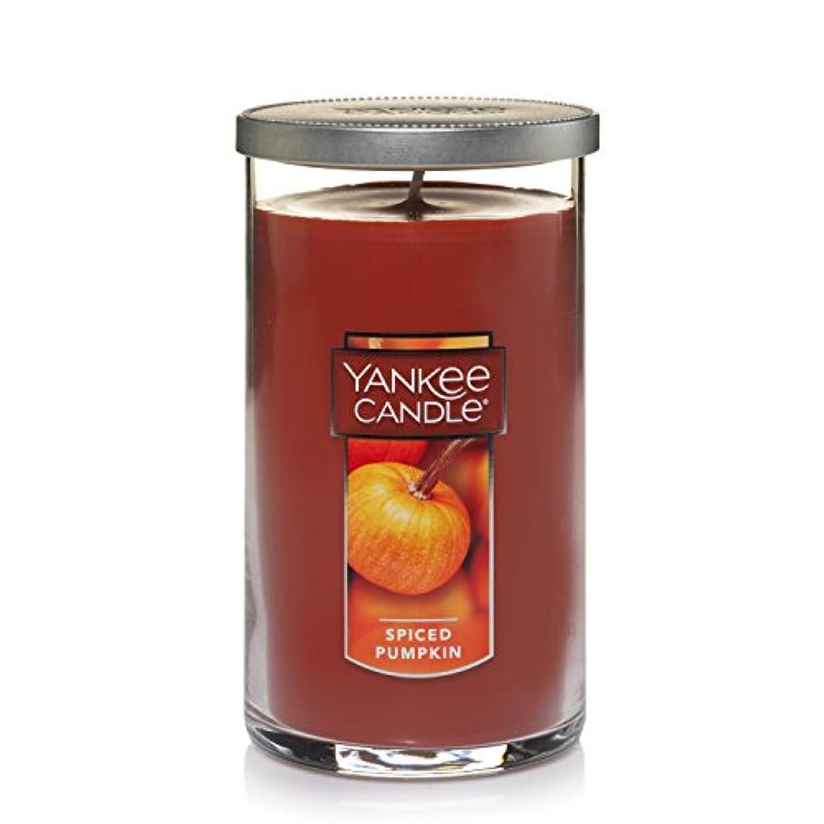 バスケットボールマーキー息切れ(ヤンキーキャンドル) Yankee Candle スパイスパンプキン Medium Perfect PillarTM Candle レッド 1221205Z