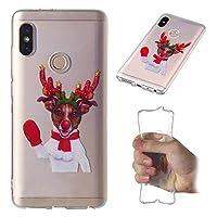 シェル の Redmi Note 5 Pro, 耐久性のある 保護 耐久保護ケース スリム 合う ケース バック スクラッチ耐性 シェル 電話 カバー Redmi Note 5 Pro Red Gloves Elk