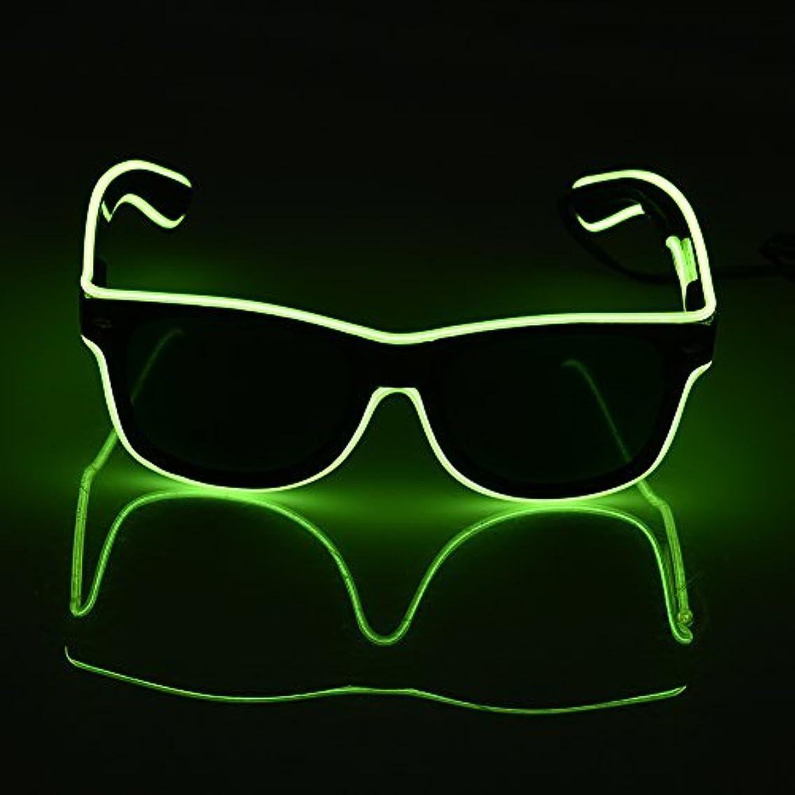 SUND led メガネLED 光るサングラス 光るメガネ コスプレ コスチューム 衣装 おもしろ パーティーグッズ 2色