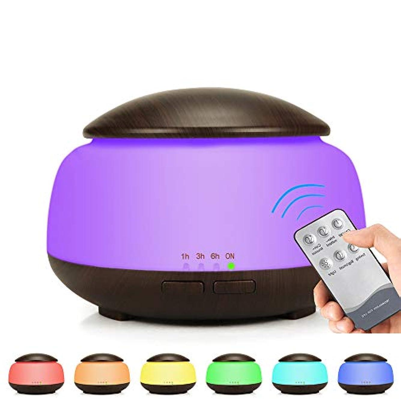 前奏曲通信網開いたエッセンシャルオイルディフューザーアロマディフューザー300 mlアロマ加湿器、7色LEDライト、ホームオフィス用ウォーターレス自動シャットオフ,UKplug