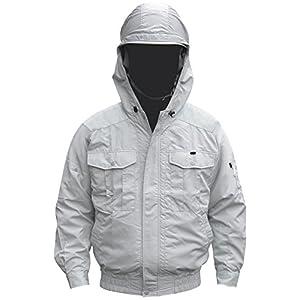 NSP 空調服 服単体 チタンコーティング フード付 肩・袖補強あり シルバー サイズL 8207886