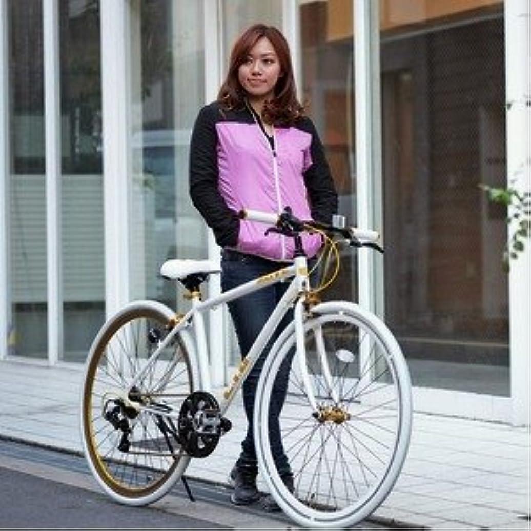 木急性もつれクロスバイク 700c(約28インチ)/ホワイト(白) シマノ7段変速 重さ/ 12.0kg 軽量 アルミフレーム 【LIG MOVE】【代引不可】